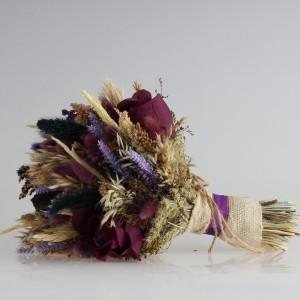 Gelin Çiçeği Mor Kuru Çiçek Tasarım