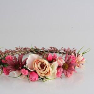 Gelin Tacı Pembe Kuru Çiçekler