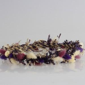 Gelin Tacı Mor Tonları Kuru Çiçekler