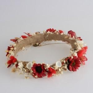 Gelin Tacı Kırmızı Çiçek Tasarım