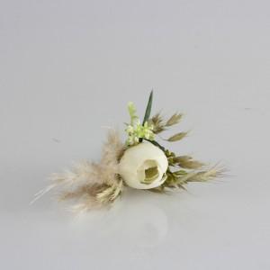 Damat Yaka Çiçeği Kırık Beyaz Model