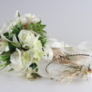 Gelin Buketi Tacı Yaka Çiçeği Lilyum Gala Tasarım