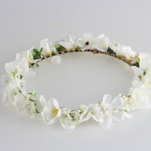 Gelin Tacı Beyaz Çiçekli Tasarım