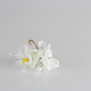 Damat Yaka Çiçeği Beyaz Çiçekli Tasarım