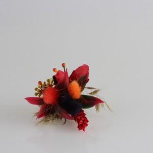 Damat Yaka Çiçeği Bordo Kuru Çiçek Tasarım