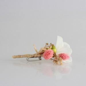 Damat Yaka Çiçeği Pudra Beyaz  Kuru Çiçekler