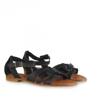 Siyah Bayan Sandalet Çapraz Model