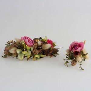 Saç Tokası Damat Yaka Çiçeği Gül Kurusu Tasarım