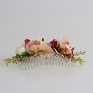 Saç Tokası Taraklı Damat Yaka Çiçeği  Pastel Şakayık