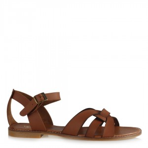 Sandalet Taba Rengi Çapraz Model