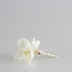 Damat Yaka Çiçeği İnci Beyazı Soft Tasarım