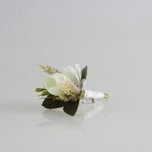 Damat Yaka Çiçeği Beyaz Gül Başak