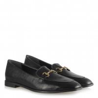 Loafer Düz Ayakkabı Siyah Aksesuarlı