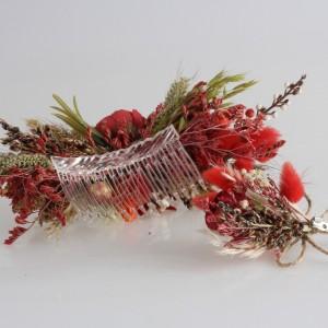 Saç Tokası Taraklı Damat Yaka Çiçeği Egzotik Tasarım