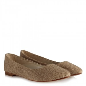 Babet Ayakkabı Hasır Desenli Sivri Model
