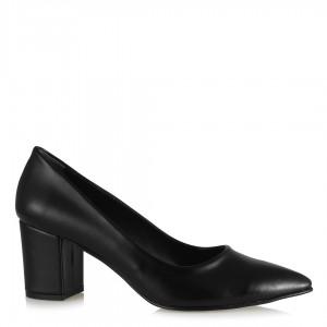 Topuklu Ayakkabı Stiletto Kalın Topuklu Siyah