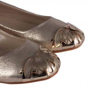 Babet Ayakkabı Dore Yaldızlı Metal Tokalı