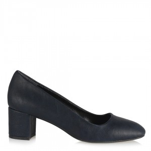 Topuklu Ayakkabı Lacivert Az Topuklu Model