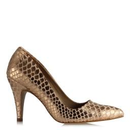 Bakır Rengi Ayakkabı Yılan Modeli