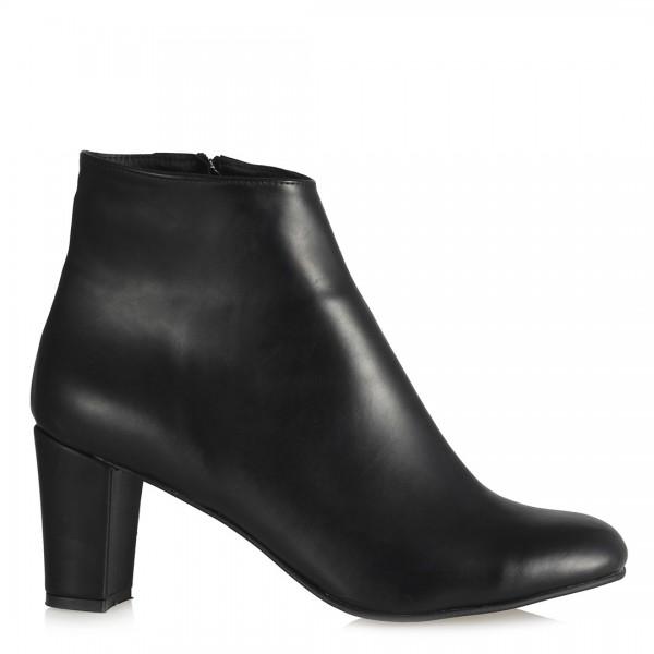 Az Topuklu Ayakkabı Siyah Yaldızlı