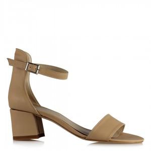 Sandalet Az Topuklu Ayakkabı Nude Rengi