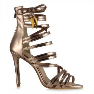 Bantlı Ayakkabı Dore Rengi