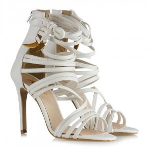 Bantlı Ayakkabı Beyaz Renk