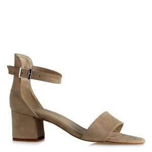 Az Topuklu Ayakkabı Vizon Süet