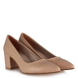 Kalın Topuklu Ayakkabı Vizon Mat