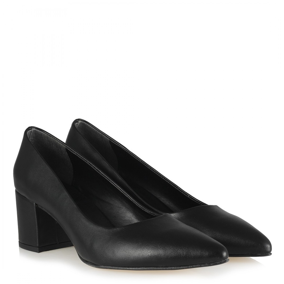 Kalın Topuklu Ayakkabı Siyah Mat