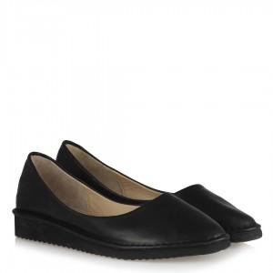 Pisi Pisi Babet Ayakkabı Siyah Hakiki Deri