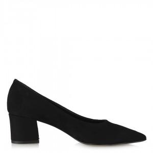 Stiletto Topuklu Ayakkabı Siyah Süet