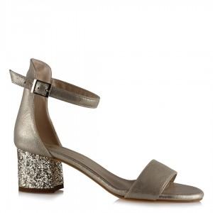 Topuklu Ayakkabı Sandalet Altın Sarısı