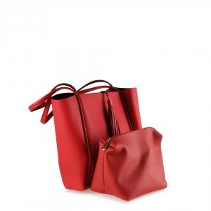 Kırmızı Çanta Geniş Kullanımlı