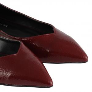 Babet Ayakkabı Bordo Sivri Burun