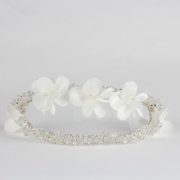 Gelin Tacı Modelleri Kırık Beyaz Çiçekler