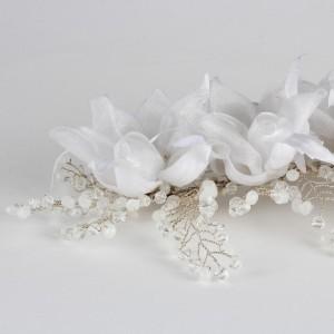 Gelin Saç Tokası Taşlı Çiçek