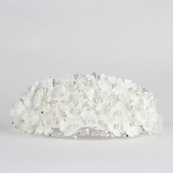 Gelin Tacı El Yapımı Minik Çiçek İnci Tasarım