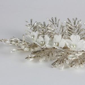 Gelin Saç Tokası Metalik Çiçekli Model