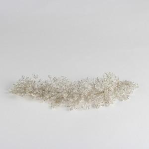 Gelin Saç Aksesuarı Kristal Kırık Beyaz