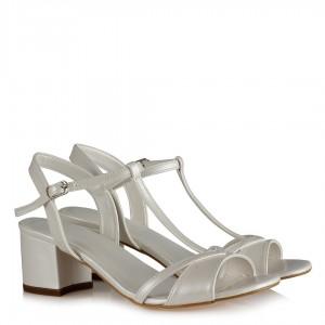 Nikah Ayakkabısı Az Topuklu Çapraz Kemer