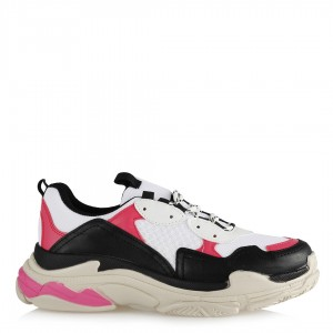 Spor Ayakkabı Sneakers Siyah Fuşya