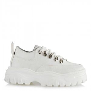 Bayan Spor Ayakkabı Beyaz Keten