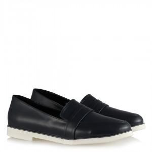 Loafer Lacivert Düz Ayakkabı