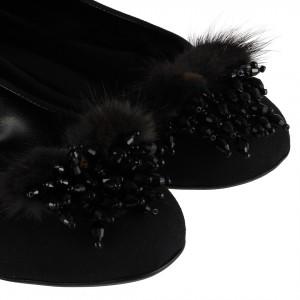 Babet  Siyah Tüylü Tokalı