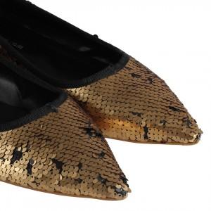Babet Ayakkabı Bakır Pullu Sivri