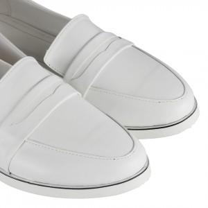 Beyaz Loafer Düz Ayakkabı