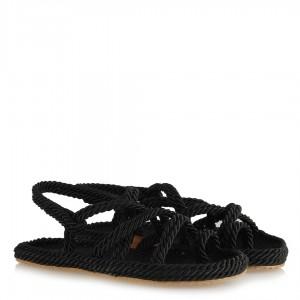 Örgü Sandalet Siyah
