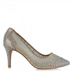 Nikah Ayakkabısı Prenses Taşlı Tül