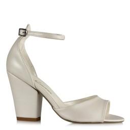 Nikah Ayakkabısı Az Topuklu Bilekli Kemer